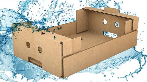 Vandtæt pap emballage