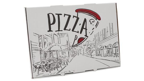 Pizzaæsker, takeaway og fastfoodemballage